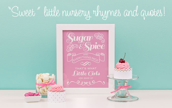 Nursery Rhyme Prints for Children