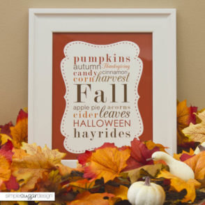 Autumn Printable Poster art