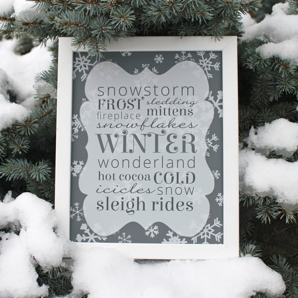 free winter printable simple sugar designsimple sugar design. Black Bedroom Furniture Sets. Home Design Ideas