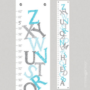 alphabet growth chart blue