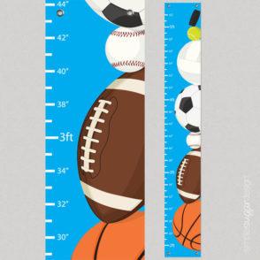 growth chart sports balls