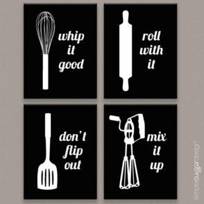 Kitchen Art Print Set Of Four