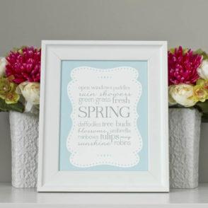 free spring word art download printable