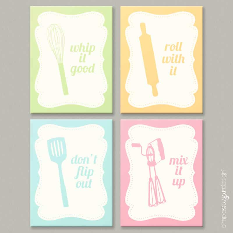 New Introducing Cheeky Kitchen Art Prints Simple Sugar Designsimple Design