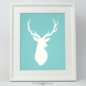 stag head silhouette