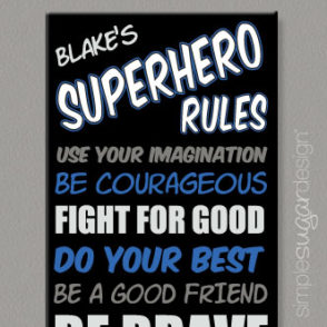 Superhero Rules Canvas
