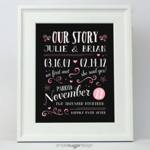 Vintage Typography Love Story