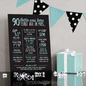 90th-Birthday-chalkboard