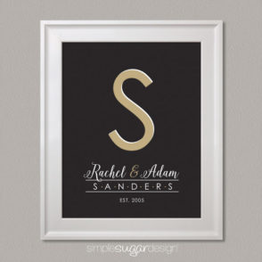 Deco Monogram Family Print