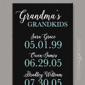Grandma's grandkids timeline