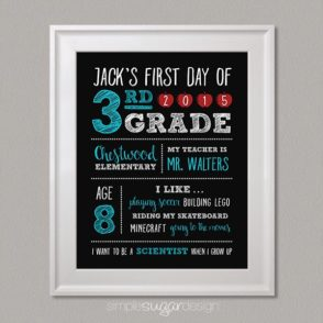 First Day of school personalized poster