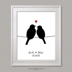 Love Birds on a Wire