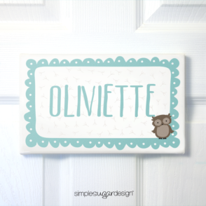 Whimsical Owl Door Sign