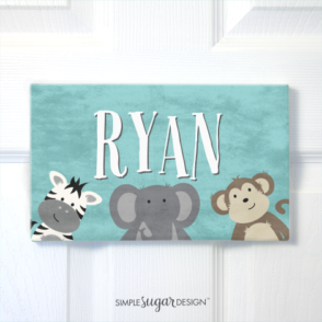 Jungle Portrait Door Sign