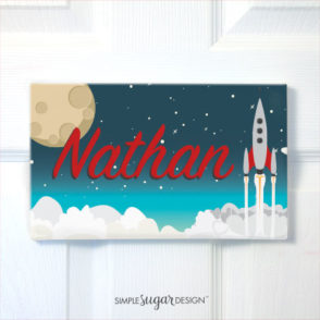 rocket door name sign