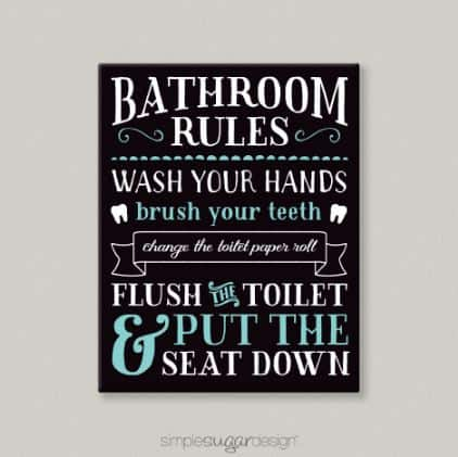 Bathroom rules canvas simple sugar designsimple sugar design for Rules of good bathroom design