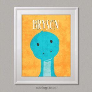 dinosaur portraits name print