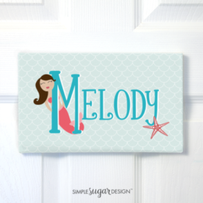 Mermaid Door Sign