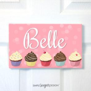 Cupcake Door Sign