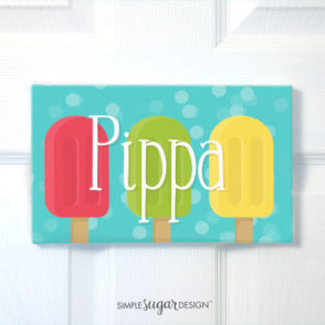 Popsicle Door Sign