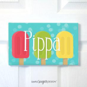 Popsicle Door Sign