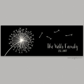 Dandilion Family Canvas