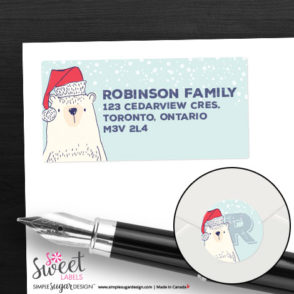 Polar Bear Holiday Return label