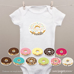 donut onesie stickers