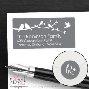 return address labels bird branch