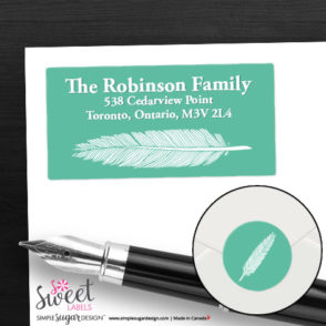 return address labels feather