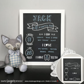 Reusable Baby Monthly Chalkboard