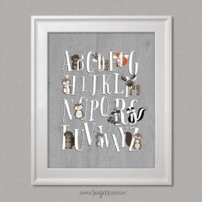 Woodland Portraits Alphabet