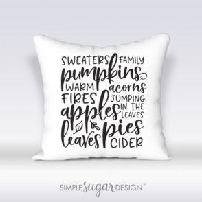 Fall pillow autumn bliss