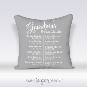 Grandmas Grandkids Pillow