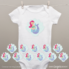 Mermaid Onesie Stickers