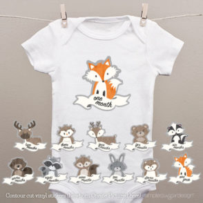 Woodland Cutout Onesie Stickers