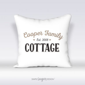Personalized Family Cottage Pillow