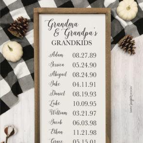Rustic-Grandmas-Grandkids Sign