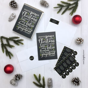 Christmas Words Collage Card