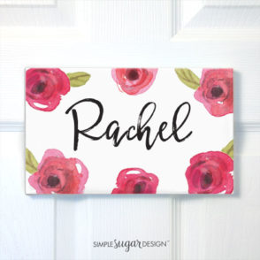 Sweet Rose Door Sign