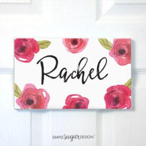 Sweet Rose Door Sign