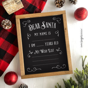 My Christmas List Chalkboard